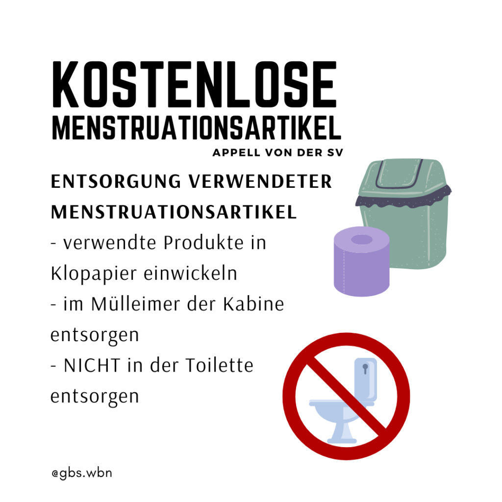Kostenlose Menstruationsartikel: richtige Entsorgung